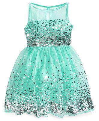 Crystal Doll Sequin Illusion Dress Big Girls