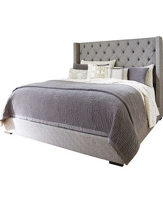 amazing deal  sorinella queen upholstered bed  ashley