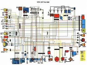 This Is Wiring Diagram For Goldwing Gl1000 For The Year 1975 Until 1977