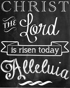 Free Easter Chalkboard Printable | Hymns and Verses | What ...
