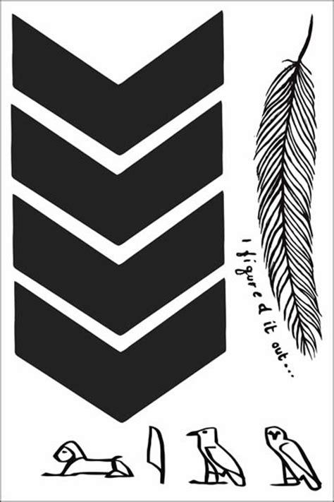 Liam Payne Chevron Temporary Tattoo Sheet of Temporary Tattoos