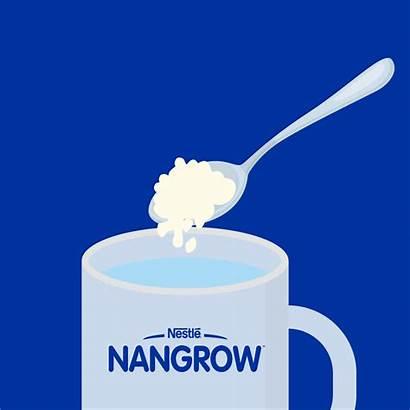 Drink Milk Water Lukewarm Gradually Healthy Growth