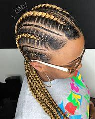 Feed in Cornrow Braids Hairstyles
