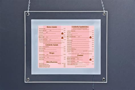 light up menu board this inexpensive poster frame lights up this picture sign