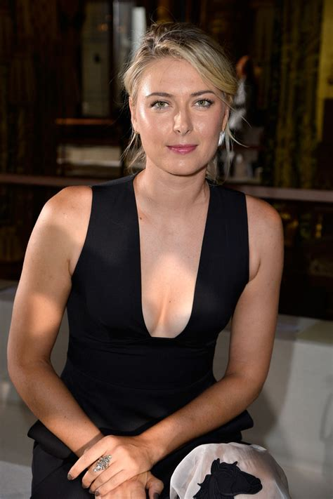maria sharapova   stella mccartney front row paris fashion week womenswear