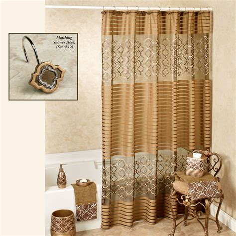Shower Curtain - spindle embroidered medallion shower curtain