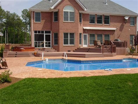 Impressive Pool With Deck #4 Composite Decks With Pool