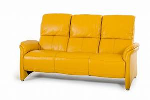 Divani casa sunflower modern yellow italian leather sofa set for Yellow leather sofa bed