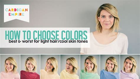 How To Pick Your Best And Worst Colors Light Hair And Fair