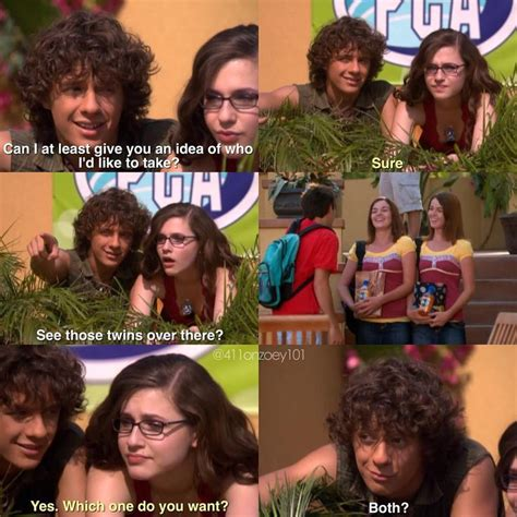 zoey 101 quotes quinn logan twins anubis those icarly prom wait gunna twin right date victorious