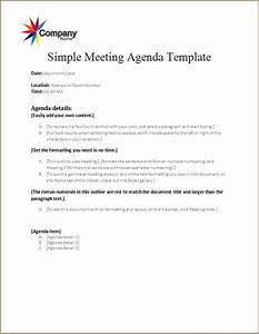 sample business meeting agenda meeting agenda template word excel templates