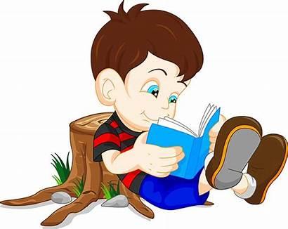 Reading Boy Vector Cartoon Education Children Characters
