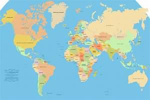 Carte Du Monde Metallique : br sil carte du monde voyages cartes ~ Teatrodelosmanantiales.com Idées de Décoration