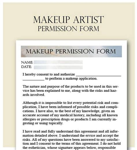 makeup artist consent form mugeek vidalondon