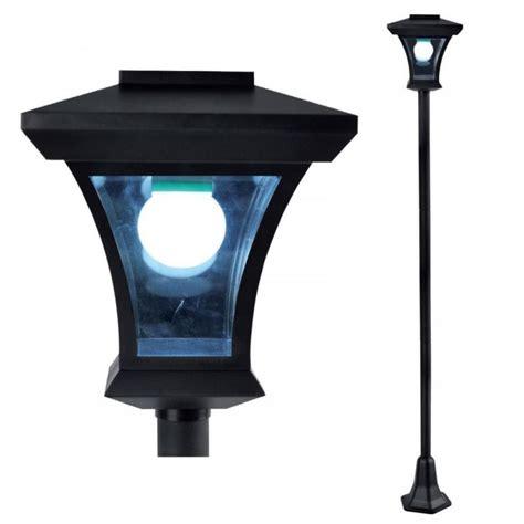outdoor solar l post lights new 1 68m solar powered lamp post light outdoor garden