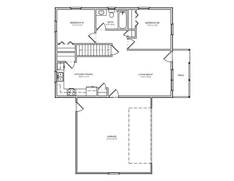 small 2 bedroom cabin plans tiny house single floor plans 2 bedrooms small house