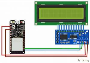 Circuit Diagram For Interfacing 16x2 Lcd With Esp32 Using