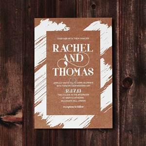 rustic invite card with brush and gold details With wedding invitation brushes free