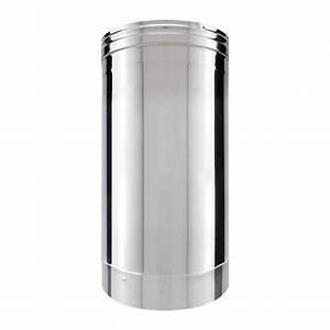 Conduit Cheminée Inox : tuyau inox simple paroi 33 cm tubage chemin e net ~ Edinachiropracticcenter.com Idées de Décoration