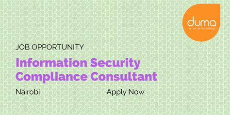Compliance Consultant Compliance Work Vacancy Information Security Compliance Consultant