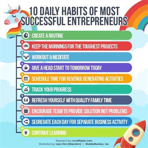 10 Daily Habits Of Successful Entrepreneurs  The Mission Medium