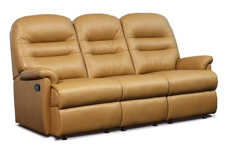 Reclining Settees by Keswick Standard Leather Reclining 3 Seater Settee
