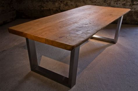 oak and steel dining table large oak dining table tarzantables co uk