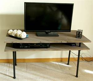DIY TV Stand - A Blend Of Industrial Rustic And Modern
