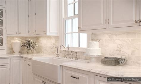 backsplash designs for kitchens kitchen backsplash marble subway tile kitchen
