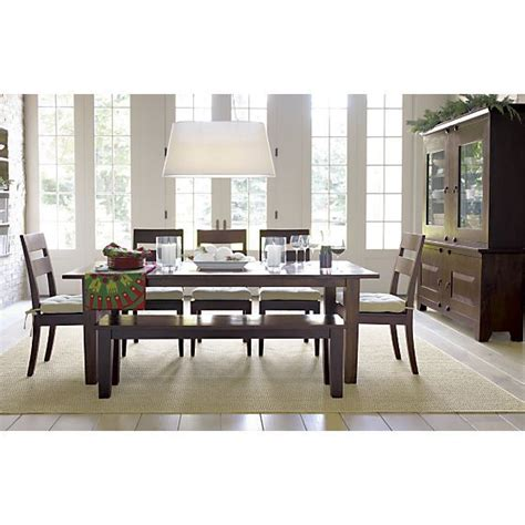 crate and barrel dining room table basque java 82 quot dining table crate and barrel chairs
