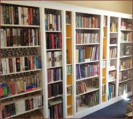 ikea billy bookcase built  library pinterest billy