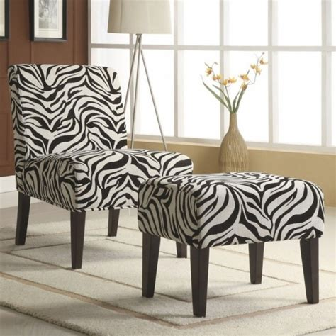 chaise zebre zebra chaise lounge chair and ottoman set print picture 36