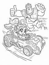 Ralph Wreck Coloring Vanellope Disney Racing Coloringoo Drawing Cartoon Printable Whatsapp Children sketch template