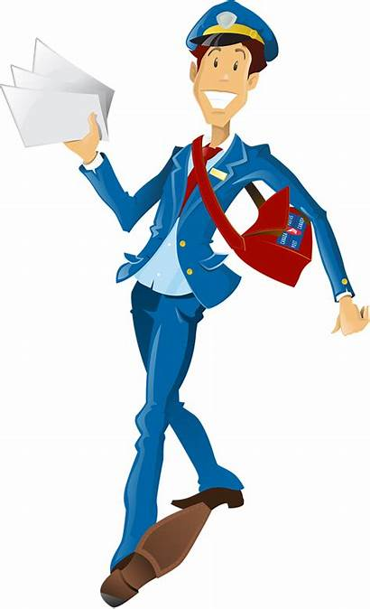 Clipart Mail Carrier Delivery Transparent Canada Flyer