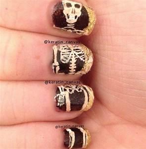 Anatomy Skeleton Nails