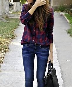 un look simple et efficace avec une chemise boyfriend a With chemise rouge a carreaux