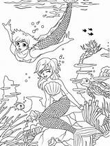 Coloring Pages Merman Mermaid Sheets Printable Beach Dover Adult Publications Template Manga Welcome Travel Visit Prince Adultcp Beachy Books sketch template