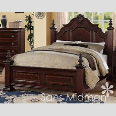 New! Chanelle Queen Size Bed Set, 2 Pc Traditional Cherry