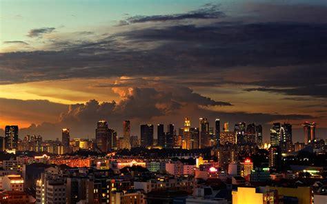 Singapore City Cityscape Skyscraper Clouds Wallpapers