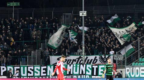 The football team currently plays in regionalliga west which is the fourth tier in german football. Rassismus-Vorfall in 3. Liga: Münsteraner Fans sorgen für ...