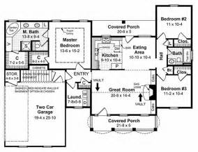 1500 square foot floor plans southern style house plan 3 beds 2 baths 1500 sq ft plan 21 146