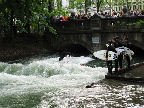 Englischer Garten Munich Surfing by The Folks Out Oktoberfest The