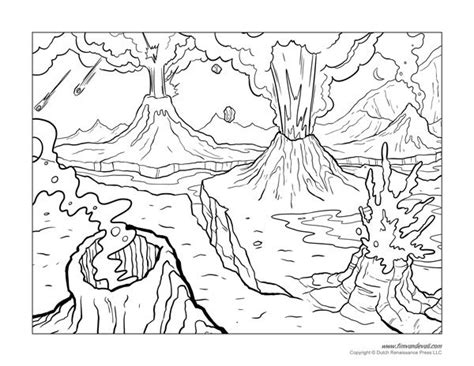volcano coloring page  tim van de vall maupin coloring