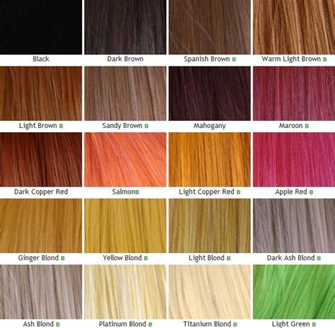 Style Inspired Ideas Of Unnatural Hair Color Chart