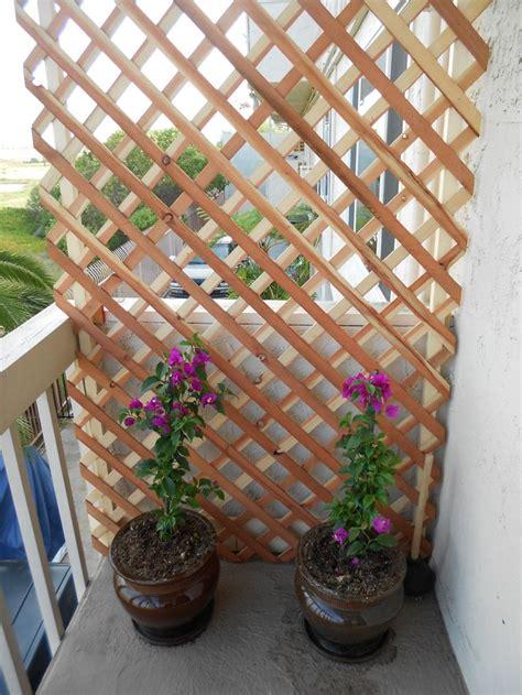 create  beautiful private balcony    lattice