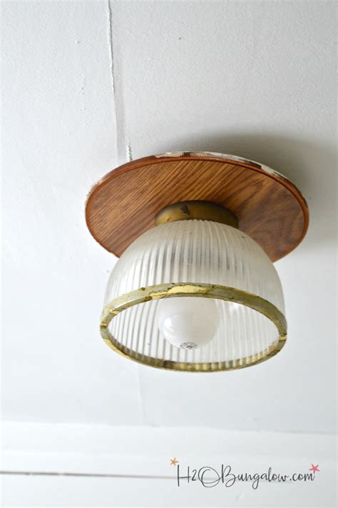how to paint a metal light fixture h20bungalow
