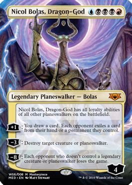 nicol bolas dragon god mythic edition  war