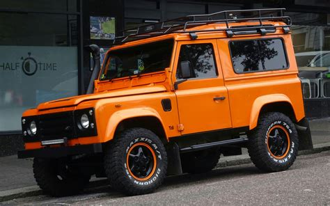 jeep range rover orange land rover defender jeep free stock photo public