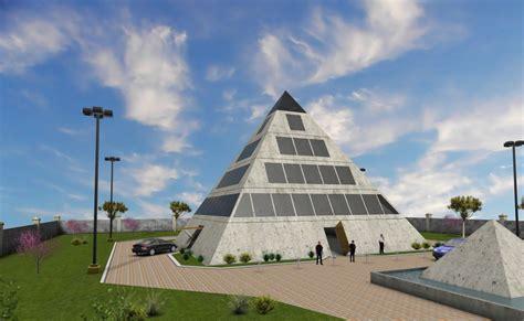 Haus Unter Glas by Korvelo Pyramid House Green Living Organic Growing