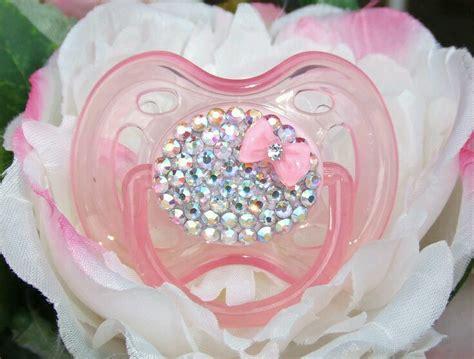 Chupones para bebes decorados con cristales (13